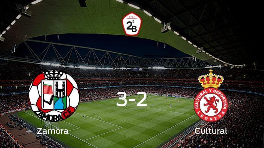 El Zamora gana 3-2 en su estadio frente a la Cultural Leonesa