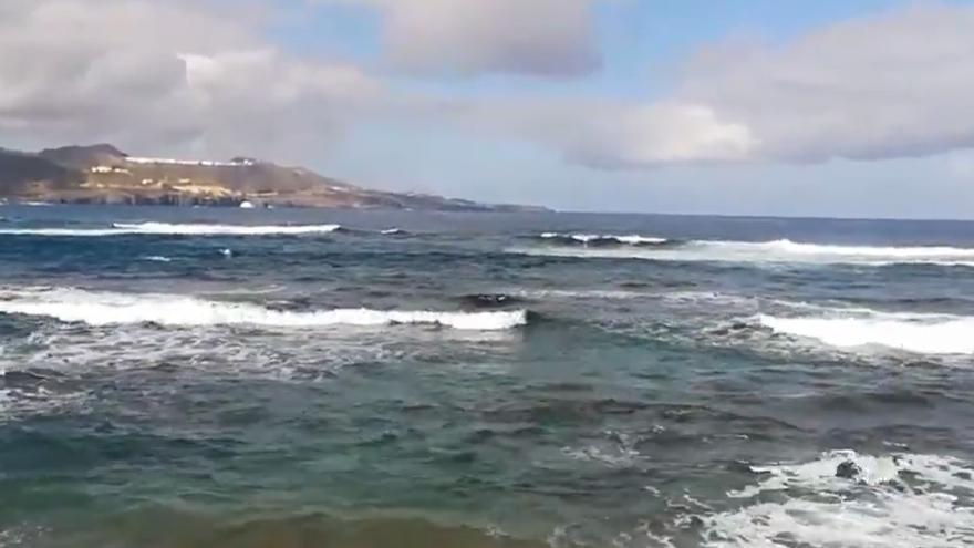 Mala mar en Las Canteras
