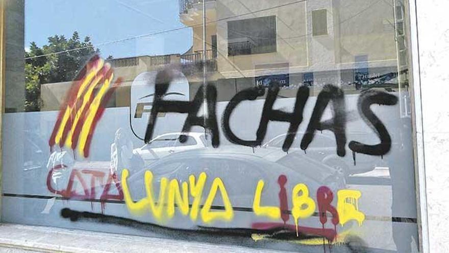 Vandalismo en la sede del PP de Manacor