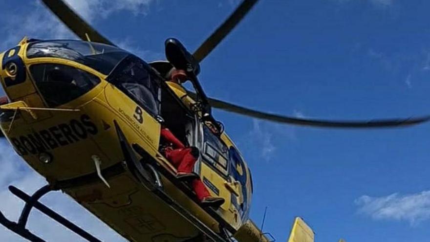 Rescatan a una senderista en Cangas de Onís con lesiones en una pierna tras caer por una ladera