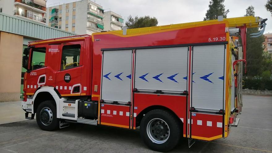 Un llamp provoca un incendi forestal a Biure
