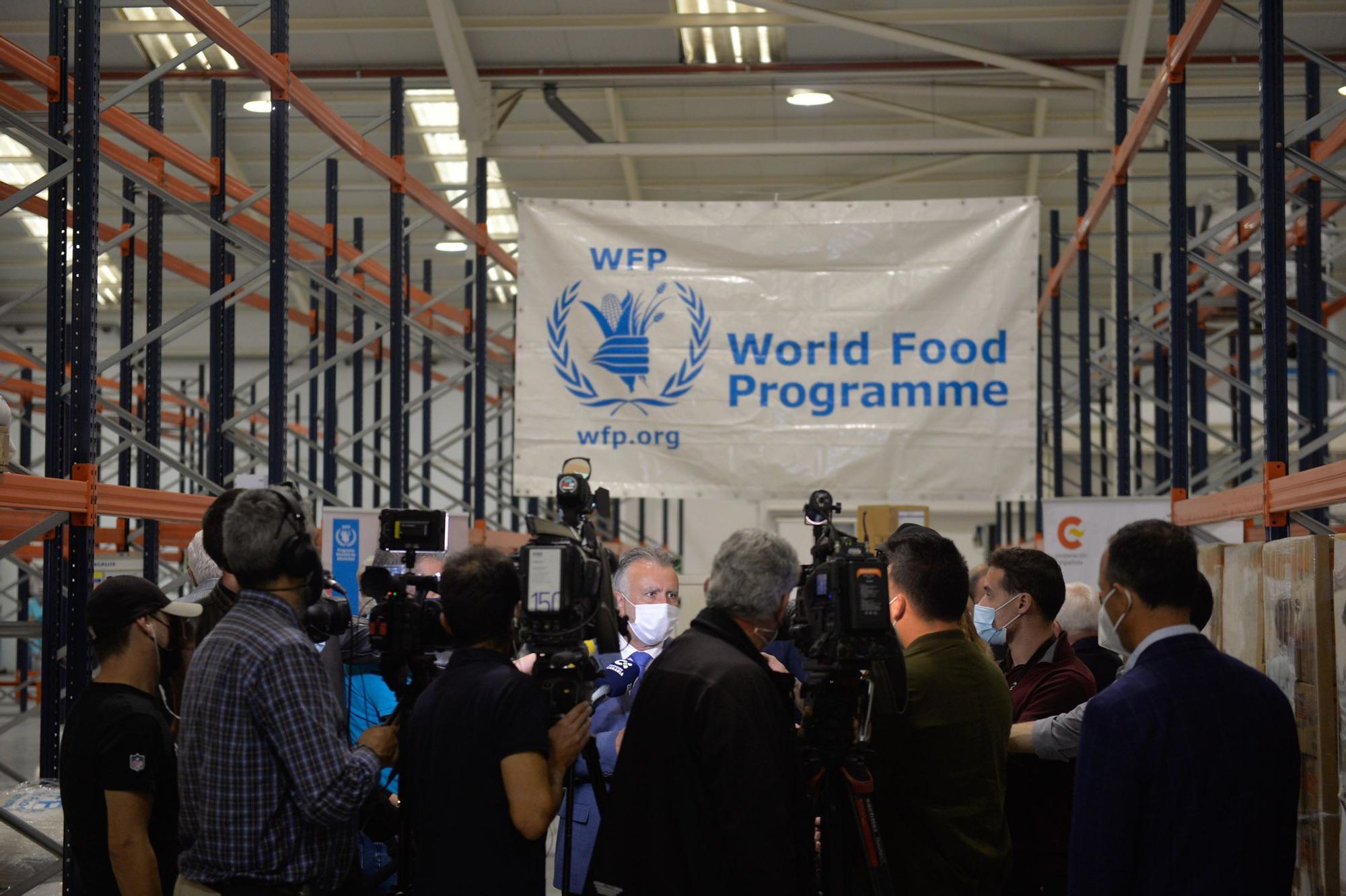 Visita a la base del Programa Mundial de Alimentos
