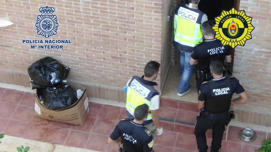 Cinco detenidos en Elche por organizar una red de cultivo y venta de marihuana