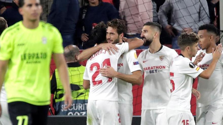 El Sevilla golea al Dudelange