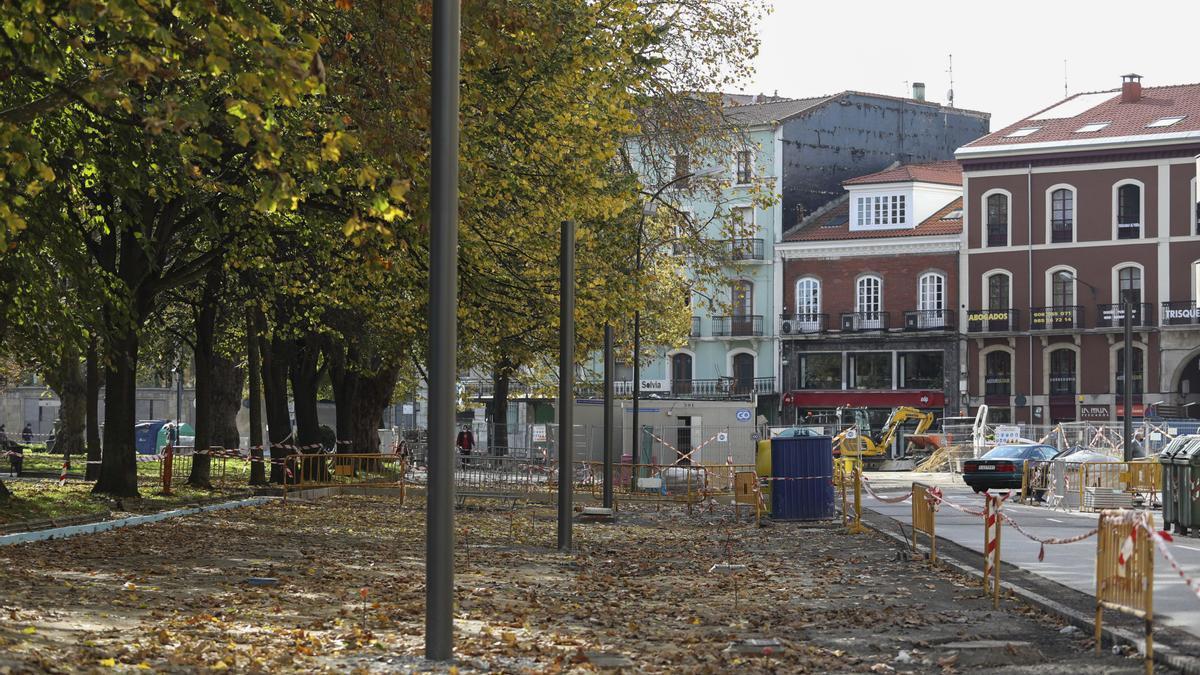 Evolución de las obras en la calle Emile Robín de Avilés.