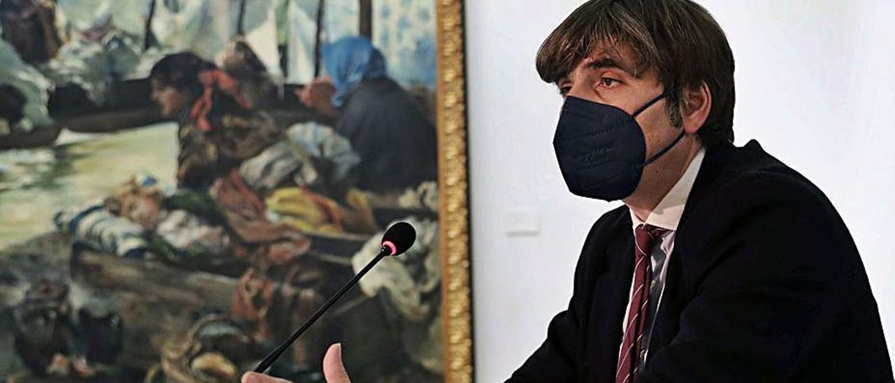 Alfonso Palacio, durante la presentación del programa de actividades del Museo de Bellas Artes. | Efe  |  LNE