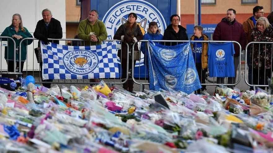 Leicester llora por la tragedia del club
