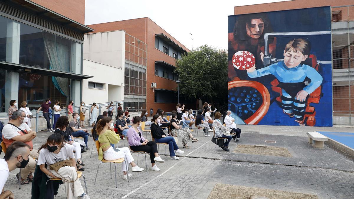 Presentación del mural en la UPV.