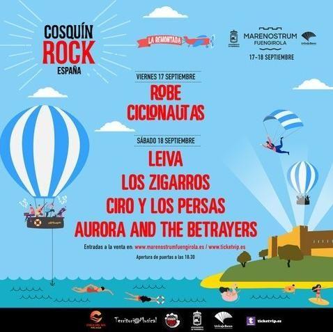 Cartel de Cosquín Rock en Marenostrum Fuengirola