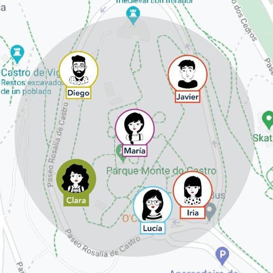 La app Capptus para el control de los grupos en visitas turísticas.