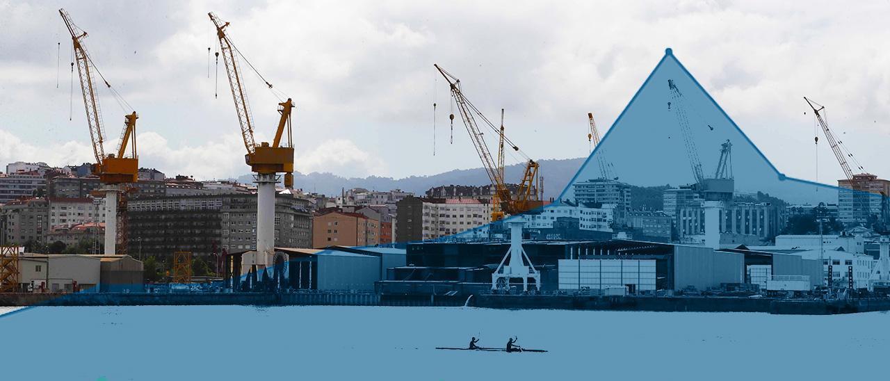 Imagen de fondo: Panorámica de las instalaciones de Barreras, sin actividad