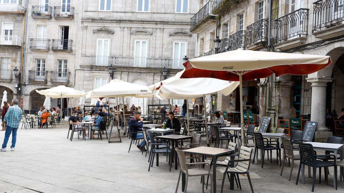 Archivo - Una terraza.