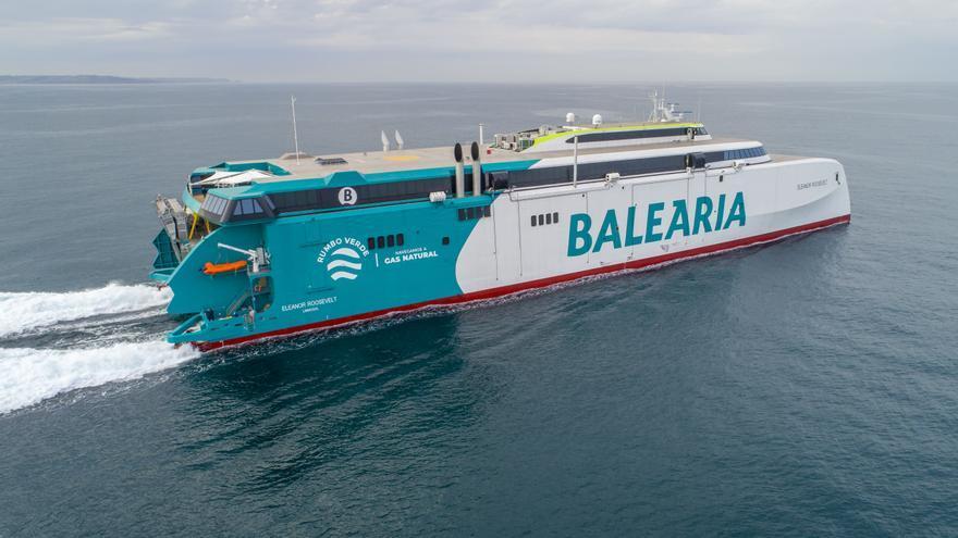 Baleària,  satisfecha con el innovador 'Eleanor Roosevelt' y la excelente acogida entre los clientes
