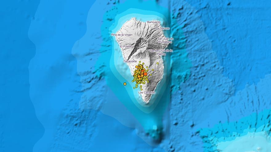 La Palma cierra senderos y prohíbe la caza después de un terremoto sentido en seis municipios
