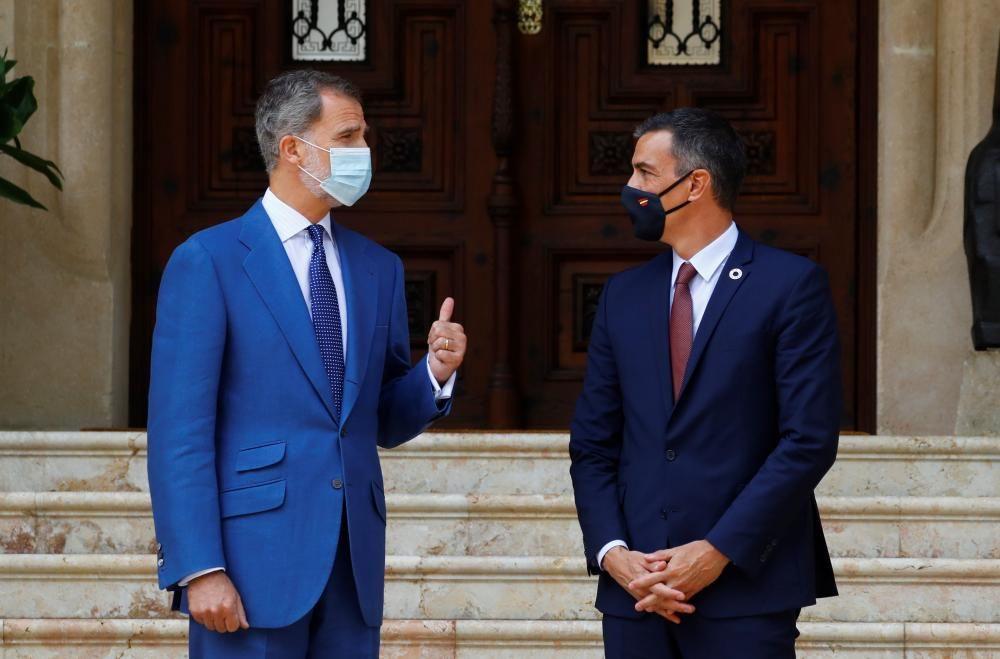Encuentro del rey Felipe VI con Pedro Sánchez