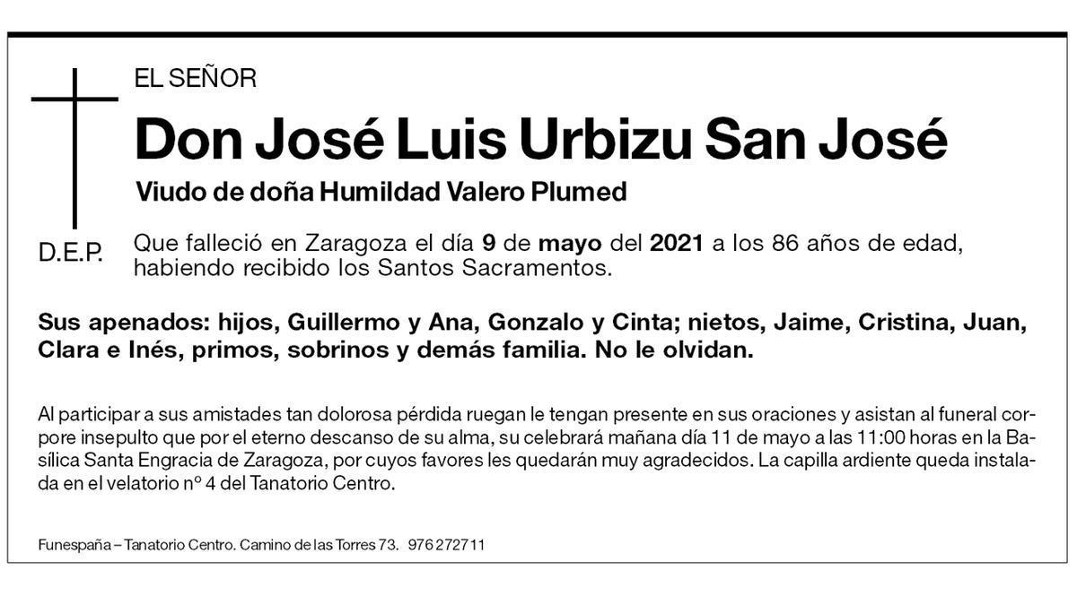 José Luis Urbizu San José