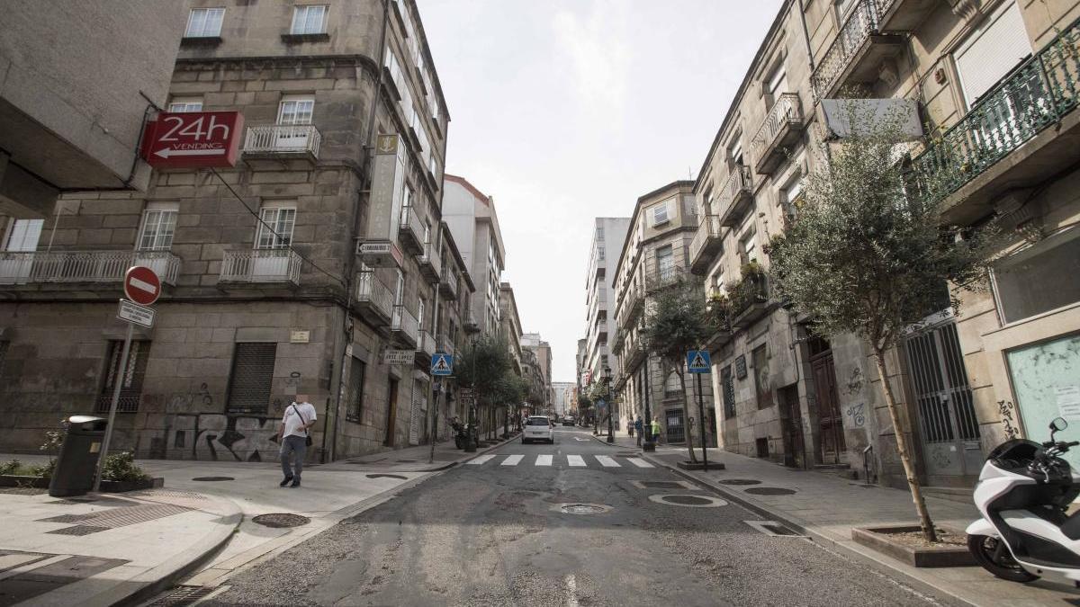 Vista general de la calle Cervantes, donde sucedieron los hechos / C.G.