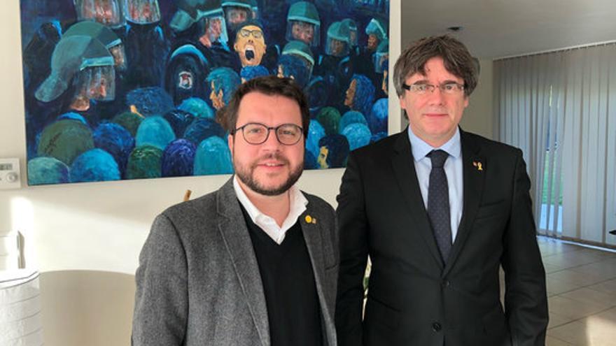 Aragonès es reuneix amb Puigdemont a Waterloo