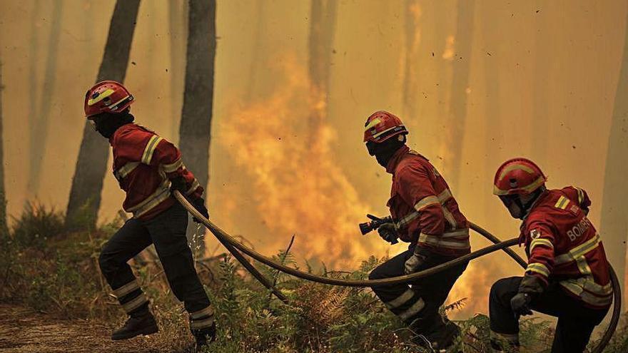 Un gran incendio en el centro de Portugal se cobra la vida de un bombero voluntario
