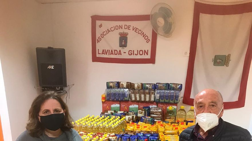 Laviada dona comida por 1.000 euros al Albergue