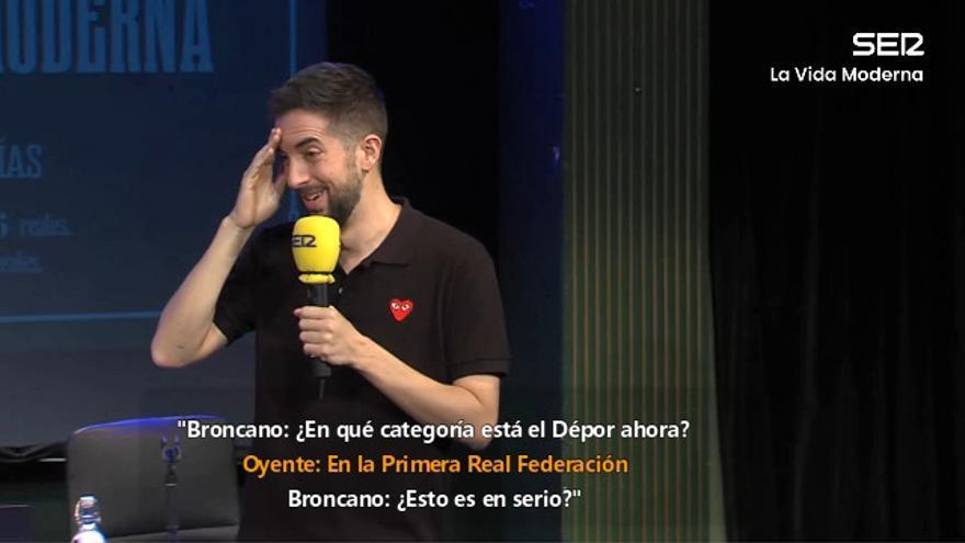 """Así reacciona David Broncano ante las """"novedades"""" del Deportivo de La Coruña: """"¡Virgen Santa, madre de Dios!"""