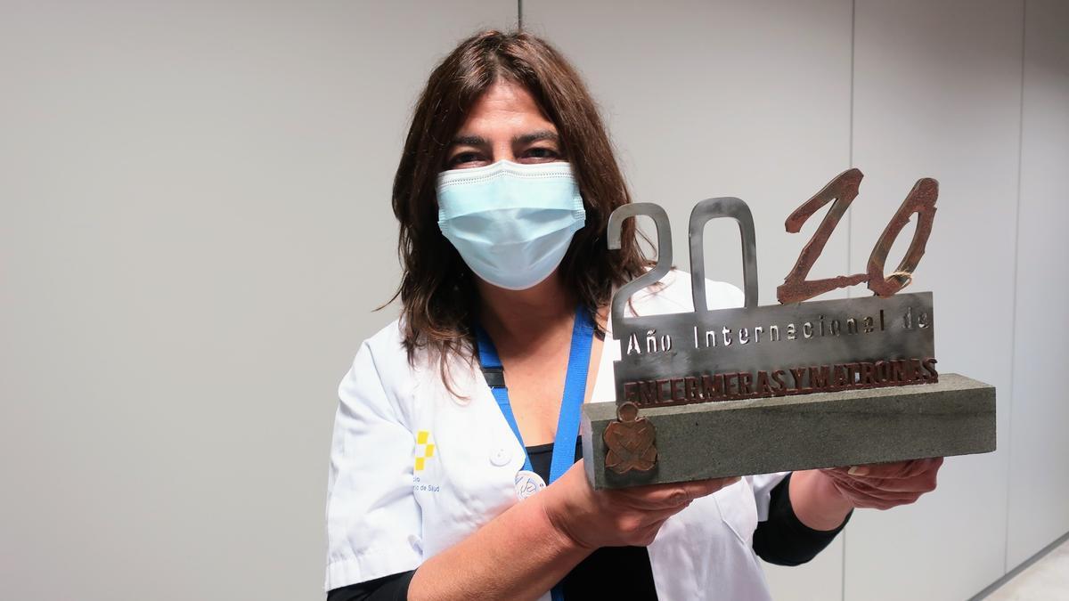 La directora de Enfermería del HUNSC, María del Cristo González Ramos.