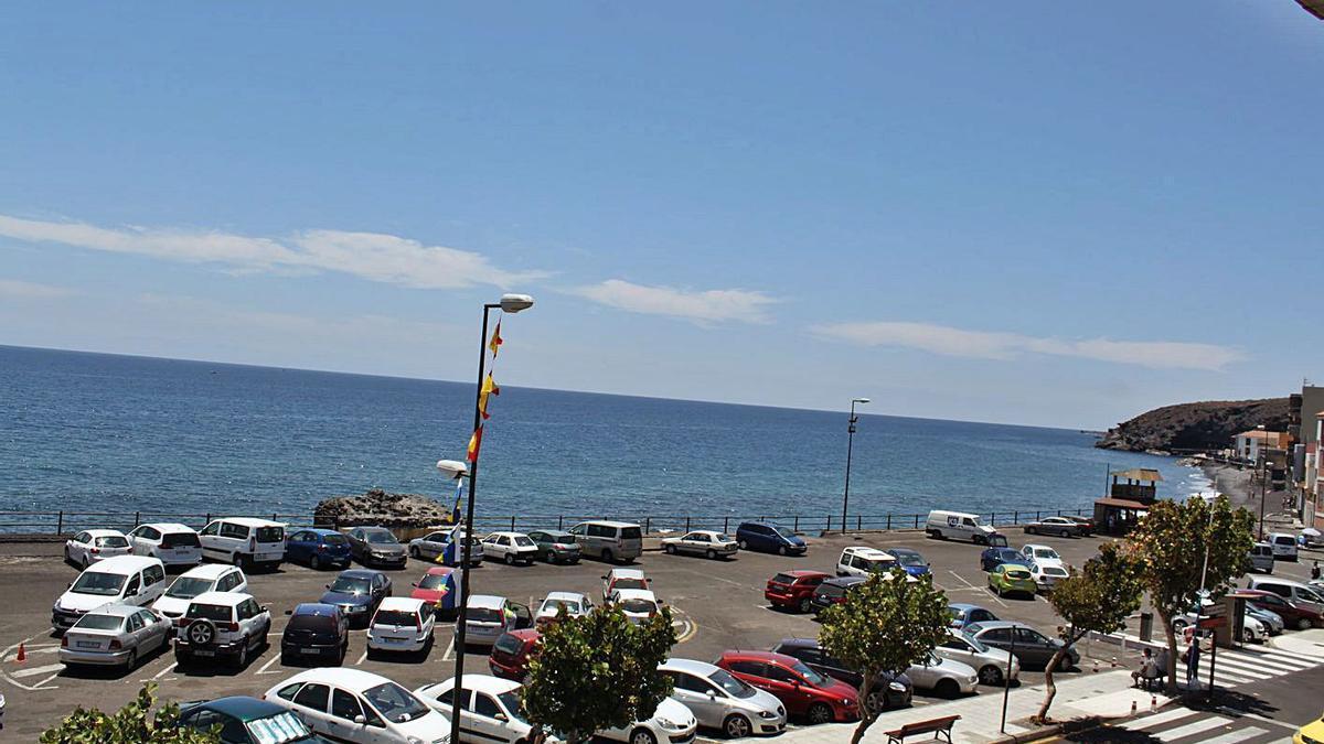 Parking rotatorio de Candelaria.