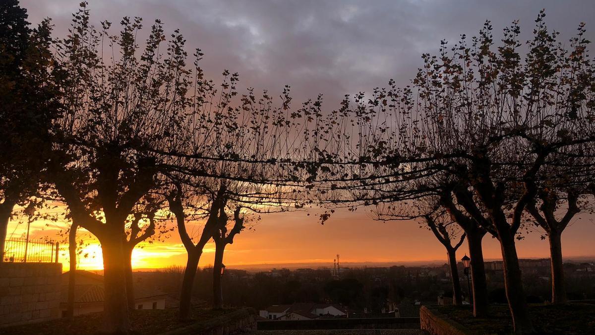 Mirador de San Cipriano, a primera hora de esta mañana.