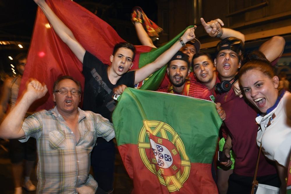 Euforia de la afición de Portugal por la Eurocopa