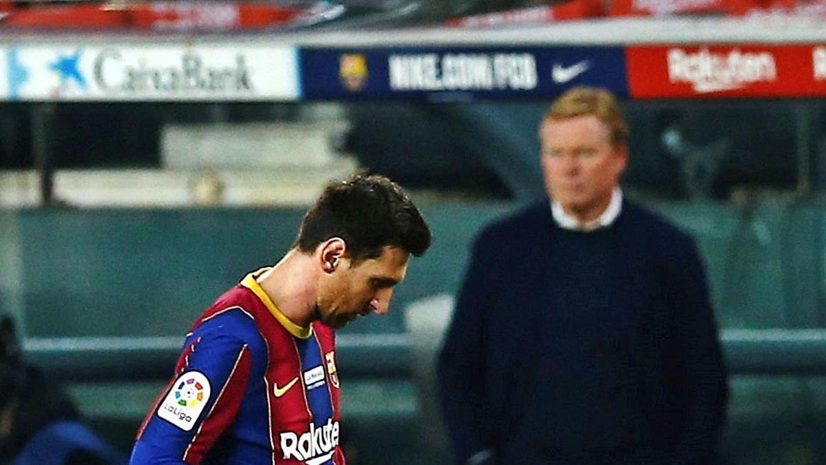 Leo Messi, capcot, durant el partit de dissabte passat al Camp Nou contra el València
