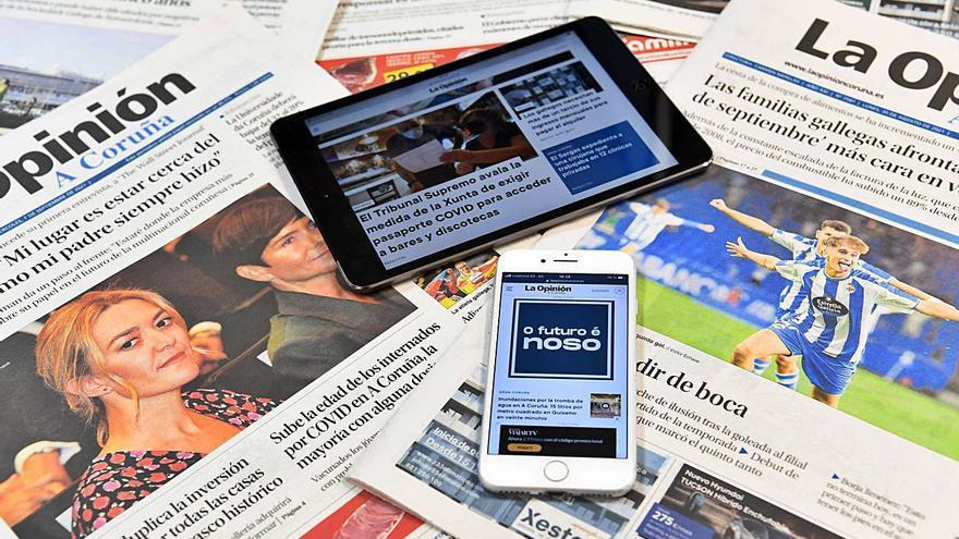 La edición digital de LA OPINIÓN celebra sus 20 años como la tercera más leída de Galicia