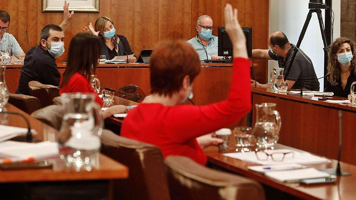 El Pleno del Ayuntamiento de Avilés celebrado el viernes.