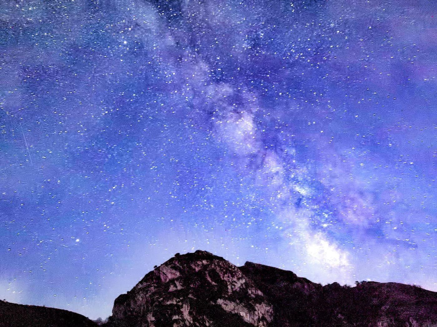 Así se vieron las Perseidas desde los Lagos de Covadonga