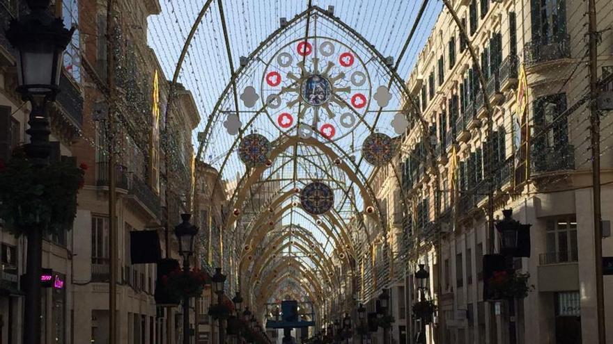 Luces de Navidad en el Centro Histórico de Málaga