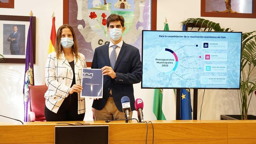 Los presupuestos de Coín para 2022 ascienden a 26 millones de euros