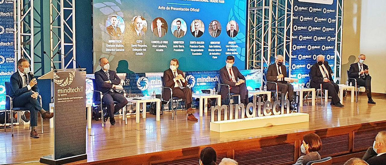 Los ponentes de la presentación de la segunda edición de la feria Mindtech.     // MARTA G. BREA