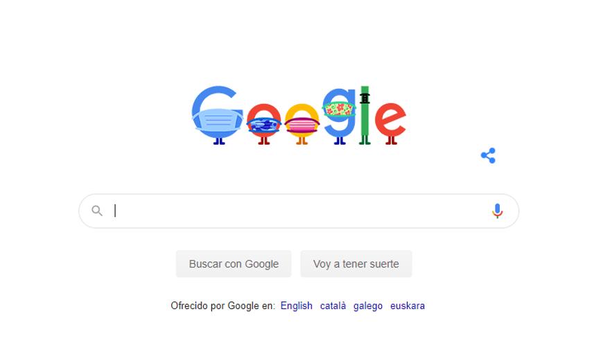Google recuerda con un 'doodle' la importancia de llevar mascarilla