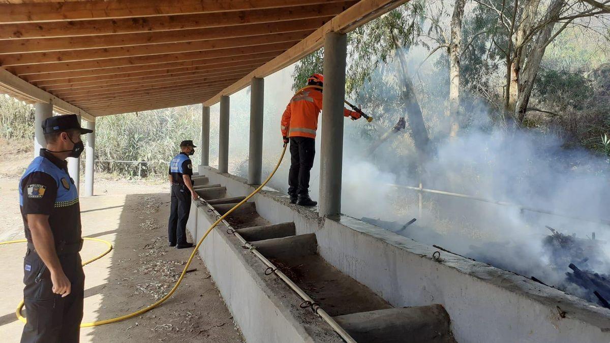 Conato de incendio en Moya (02/07/21)