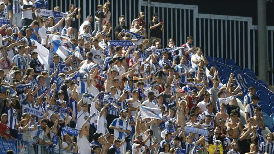 Cerca de 400 deportivistas en La Rosaleda