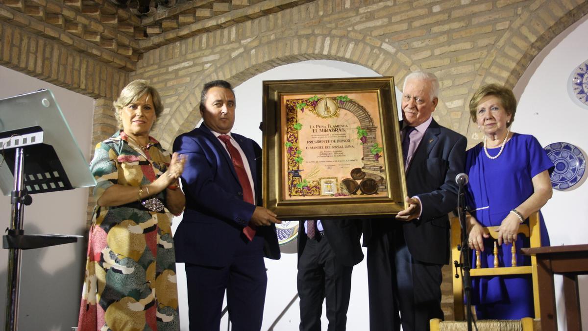 María Teresa Roldán, Antonio Pérez, Manuel del Rosal (presidente de honor) y Dolores Laguna.