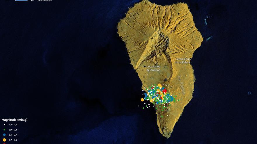 La serie sísmica de La Palma acumula ya más 20.650 terremotos en siete días