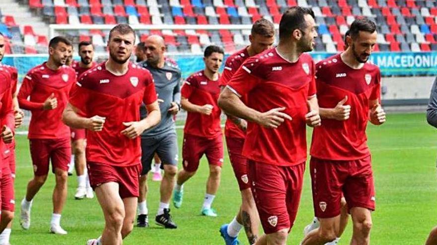 El divertido entrenamiento de la Macedonia de Bardhi para vencer a Ucrania