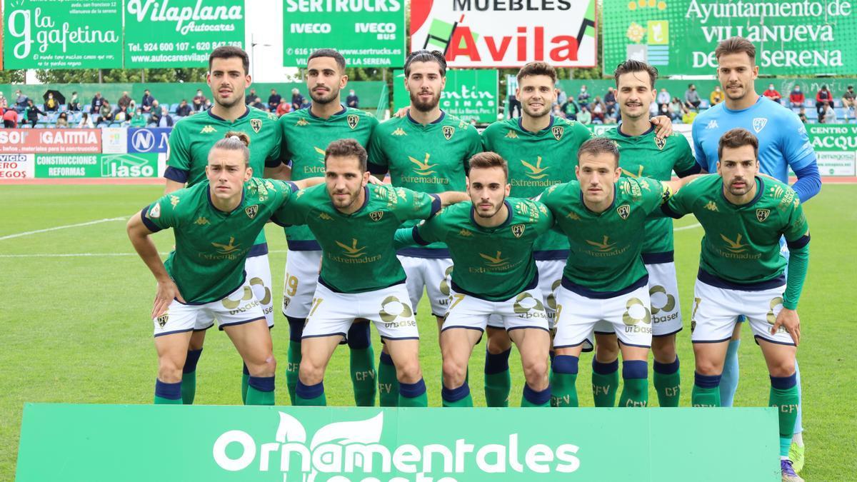 Once titular del Villanovense ante el Navalcarnero.