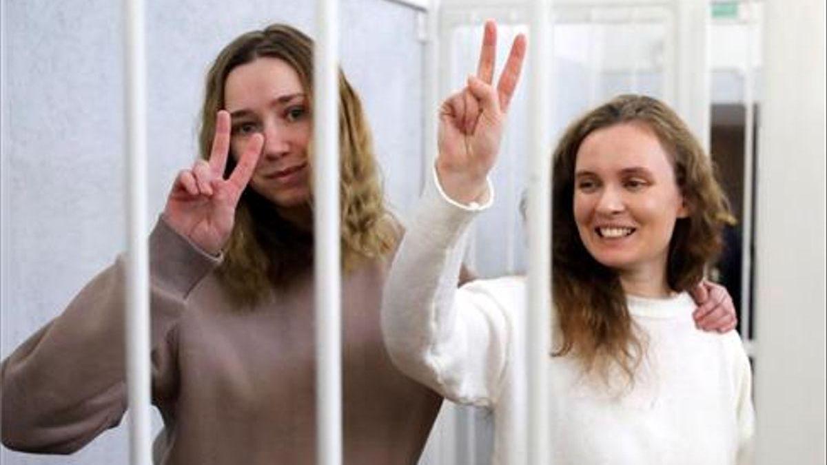 Condenadas a prisión dos periodistas en Bielorrusia por retransmitir unas protestas