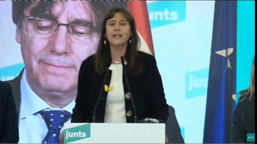 """Borràs llama a """"entenderse"""" con ERC y la CUP por la independencia"""