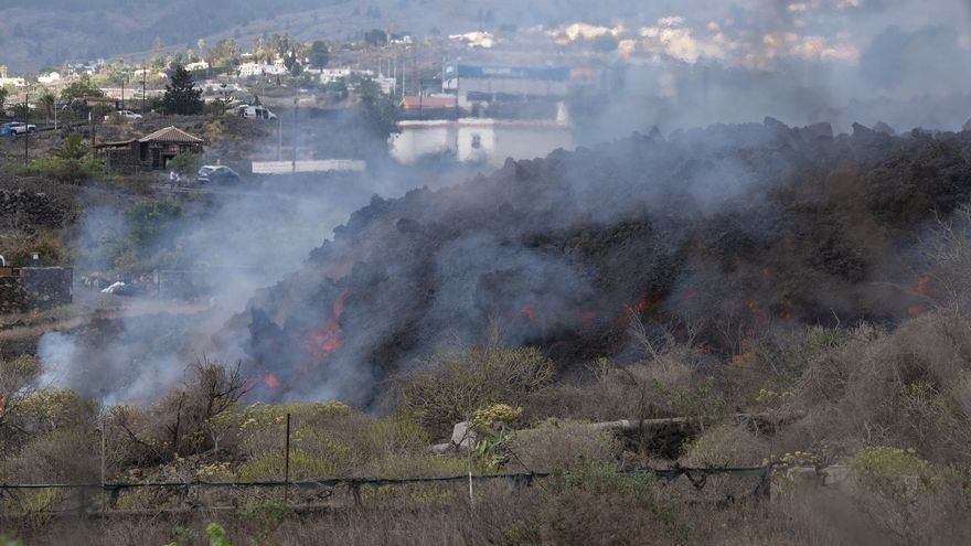 Crece un 50% el área afectada por la erupción del volcán en La Palma