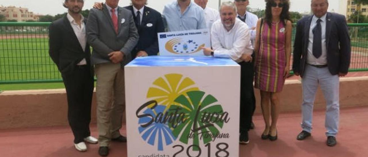 El Comité Evaluador de la entidad Aces Europe durante su visita al municipio de Santa Lucía de Tirajana.