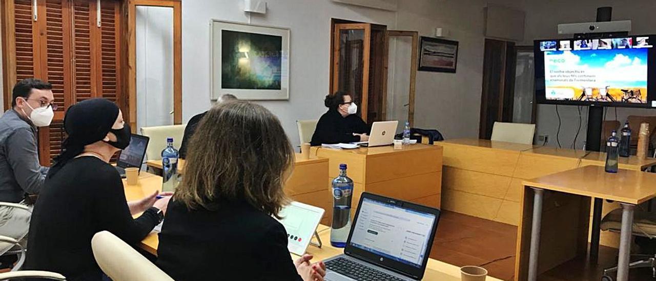 Un momento de la sesión telemática del Consell d'Entitats, presidida por Alejandra Ferrer.