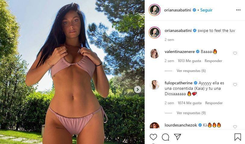 Oriana Sabatini, la novia de Dybala