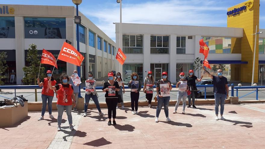 Movilizaciones en las tiendas de H&M afectadas por el ERE en la provincia